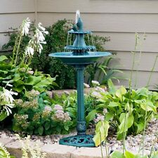 Bird Bath Fountains Pedestal Garden Outdoor Water Pump Patio Birdbath Yard New
