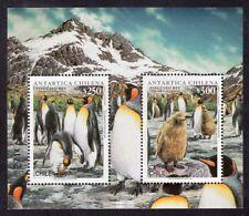 CHILE 1996 STAMP SS # 67 MNH ANTARCTIC FAUNA BIRDS PENGUINS