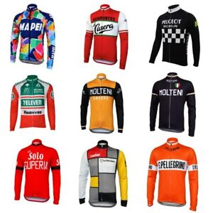 Molteni long sleeve cycling jersey winter fleece wool & no fleece red green