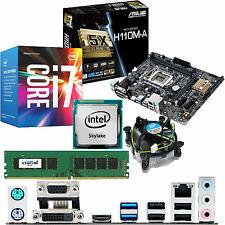 Intel Core i7 6700 3.4ghz & Asus h110m-a & 4gb ddr4 2133 Crucial Bundle