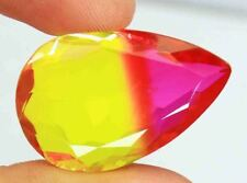 50.10Ct EGL Certified Amazing Pear Cut Multi Color Ametrine Loose Gemstone Bx109
