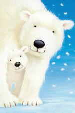 POSTER Fluffy Bears I Polar Bears Alison Edgson 24x36