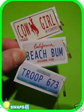 """Custom Mini License Plates  """"Girl Scout"""" or """"Boy Scout"""" SWAPS  Craft Kit"""