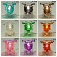 Glass Electric Dice Scent Oil Tart Diffuser Warmer Burner Aroma Fragrance Lamp
