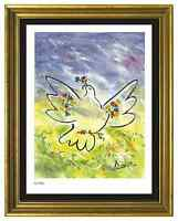 "Pablo Picasso Signed/Hand-Numbrd Ltd Ed ""Dove w Flowers""  Litho Print (unframed)"