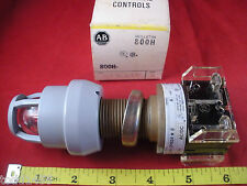 Allen Bradley 800H-QPB24R Ser A Red Lens Illuminated Pushbutton Switch 24v New