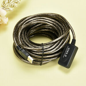 5/10/15/20M USB EXTENSION Male To Female Cable Cord Lead A High Speed USB 2.0&UK