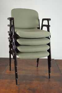 70er Vintage Armrest Chair Retro Dining Room Chair Desk Stacking Chair