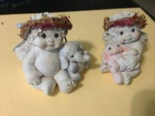 "DREAMSICLES COLLECTIBLE  SET OF 2  ""BUNNY PAL AND ELEPHANT"" CHERUB & THEIR TOYS"
