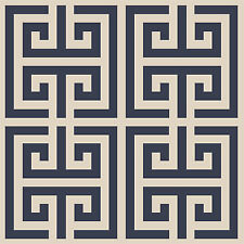"Swirlypop Greek Key Stencil border Roman Scrapbook Template 12""x9"" Reusable"
