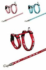 Small Rabbit Harness & Lead Set with Baby Bunny Motif Various Colours