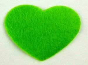 Filz-Applikation zum Aufbügeln Bügelbild 4-138 Herz  Hellgrün