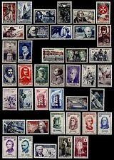 L'ANNÉE 1956 Complète, Neufs * = Cote 96 € / Lot Timbres France n°1050 à 1090