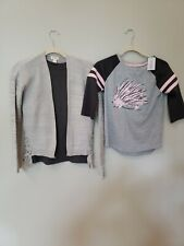 Cat & Jack Girls Shirts And Cardigan Size L 10-12 Lot - 3 Items New