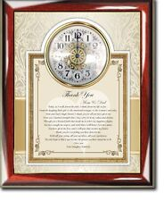 Parents Thank You Wedding Poetry Clock Bride Groom Present to Mother Father Love