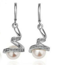 Wholesale Fashion Lovely Pearl Dangle Crystal Rhinestone Earrings Charms Gift