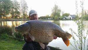 Carp & Catfish fishing holiday in France - food included Carp 48lbs Cats 100lbs+
