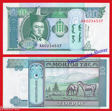 MONGOLIA 10 TUGRIK 1993 PICK 54 SC  /   UNC