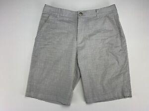 "PUMA Plaid Golf Shorts 10"" Inseam Small Check Gray Men's SZ 32"