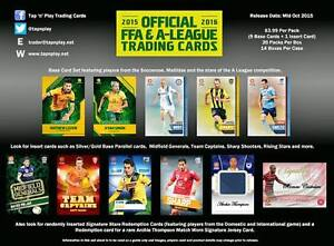 2015/16 Tap N Play FFA & A-League Soccer Sealed Box Trading Cards