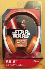 eKid Design STAR WARS BB-8 Over Ear HEADPHONES NEW!