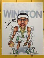 Cassius Winston Michigan State Spartans autograph signed Caricature 8.5x11 photo