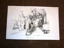 Incisione rame del 1851 Papa Leone X o Giovanni di Lorenzo de' Medici