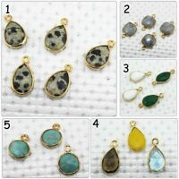 Multi Gemstone Gold Plated Earring Bracelets Necklace Connector Making Jewelry