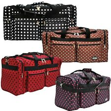 "Fashionable Polka Dots Duffle Bag/Gym Bag/Travel Bag Size 20""/25""""/30"""