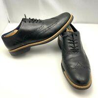 Cole Haan Great Jones Wing Tip Shoes  Black Leather C11233 Men's Size 10.5M