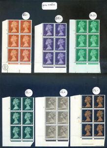 Great Britain 1967 Machin cylinder blocks 6 x 6 mint unmounted (2020/07/17#01)