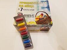 6 Colours Diamond Shine Paint Dye for Decorating Easter Eggs Gem Brilliant UK