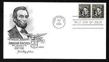 #1282 4c Abraham Lincoln - Artmaster FDC pair
