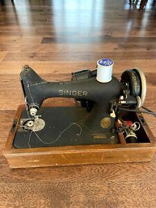 Vintage Antique Old Singer Sewing Black Machine