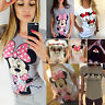 US Womens Mickey Minnie Mouse Casual T-shirt Short Sleeve Blouse Cotton Tee Tops