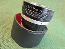 2X Auto Prinz Var-I-Rim Lens Extender for Pentax With Case