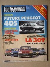 Auto-Journal n°19-85, Lancia Thema Turbo DS, Volvo 340 GLE, Peugeot 205 Turbo 16