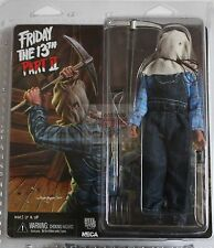 """JASON VOORHEES CLOTHED NECA Retro Friday The 13th PART 2 8"""" 2014 FIGURE"""
