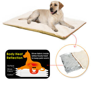 Self-Heating Dog Blanket Mattress Crate Pad Bed Pet Mat Soft Warm Cage Cushion