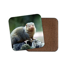 Funny Mongoose Coaster - Cute Wildlife Animal Wild Nature Woods Cool Gift #16809