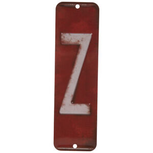 License Plate Letter Z Metal Sign Home Decoration Wall Decor