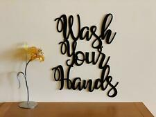 Wash Your Hands Bathroom Wall Sign Stay Healthy Stay Safe Gift Kitchen Decor