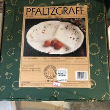 "Pfaltzgraff Winterberry 3 section serving  dish new orig box unused 11 1/4"" 1995"