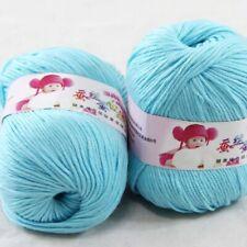 DK Baby Cashmere Silk Wool Crochet Children Hand knit Scarf Yarn 2x50gr Balls 11