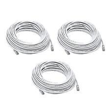 3PK 75FT White Quality Cat6 550MHz UTP RJ45 Ethernet Bare Copper Network Cable