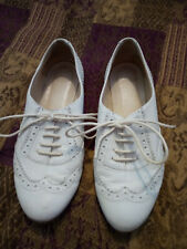 Topshop Leather Brogue Style Pump Shoes Size UK 4