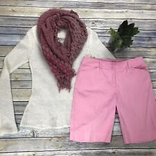 3 Pcs Women's Clothing Lot Jones New York Size 6 Shorts Rw&Co Sweater And Scarf