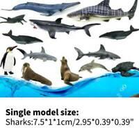12pcs/Box 3D Sea Life Sharks Dolphin Simulation Animal Model Toys Kids Gift
