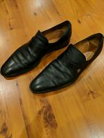 Mens Gucci Shoes | Gucci 391553 GG Black Leather Loafers Sz 9.5