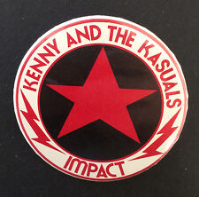 RARE Vintage 70s KENNY & THE CASUALS band pinback Promo button Impact pin badge